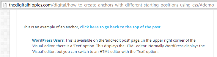 Anchors - After CSS Class