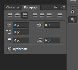 CS6 Paragraph Style Panel Before Middle Eastern Features