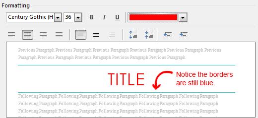 Change Default Title Style Text Color