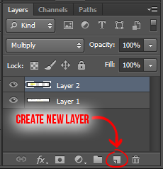 Layer > New > Layer... (Shift + Control + N)
