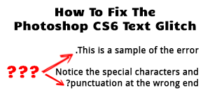 Example of CS6 Text Glitch