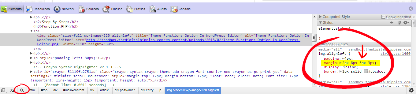 Open Firebug to Inspect the Image Element