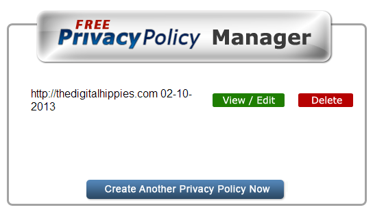 Privacy Policy Manager