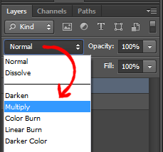 Set Layer Style to Modify