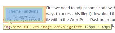 Using FireBug to Determine Correct Margins