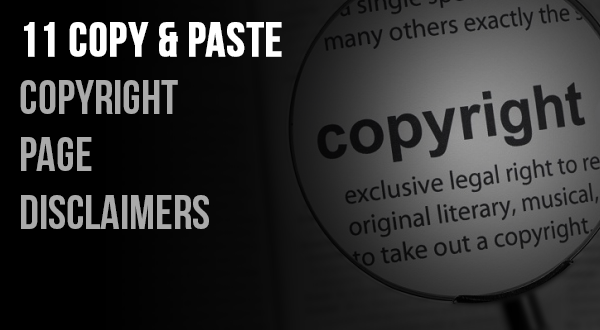 11 Copy and Paste Copyright Page Disclaimers