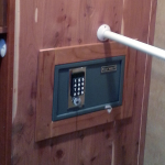 2014 DRV Mobile Suits Fifth Wheel 38RESB3 - Wall Safe in Closest