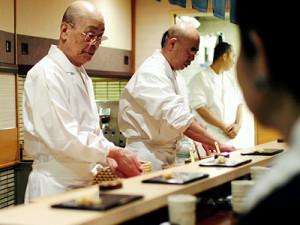 Jiro Dreams of Sushi - Making Sushi Behind Counter