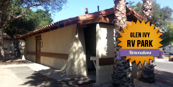 Bathroom Renovations at Glen Ivy RV Park