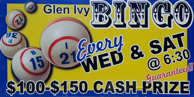 Bingo at Glen Ivy RV Park