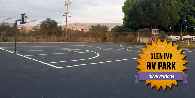 New Basketball Court at Glen Ivy RV Park