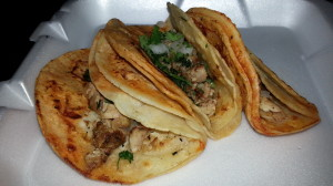 Taco Night's Chicken Mexican Street Tacos at Lil' Tack Shack