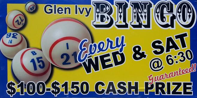 Bingo at Glen Ivy RV Park